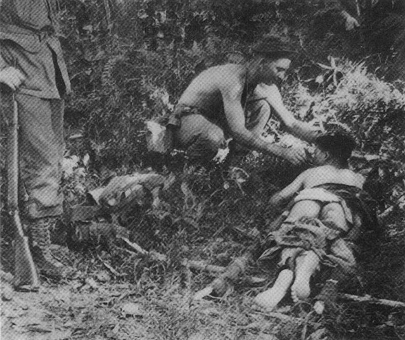 Wounded Chinese Terrorist, Ronald Betts, Royal Australian